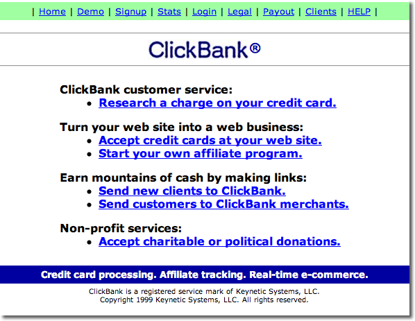 Clickbank.com in 1999