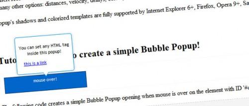 jQuery Bubble Popup