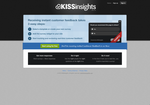 kissinsights.com beta
