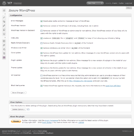 secure wordpress plugin