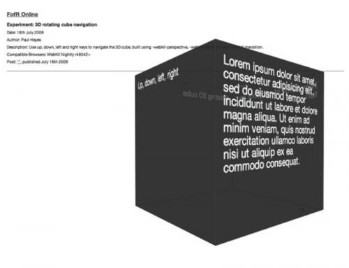 CSS3 3D effect
