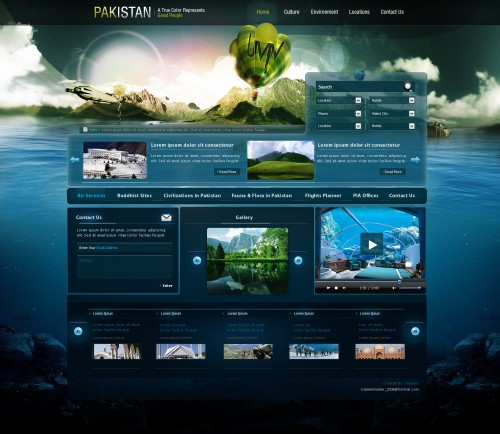 Great Pakistan Web Design Interface by naseemhaider