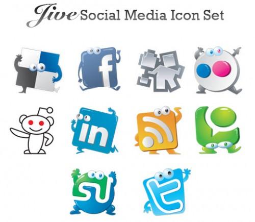 Jive 10 social media icons
