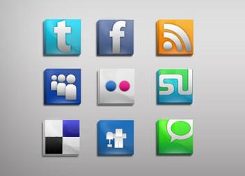 Lustrous Social Icons