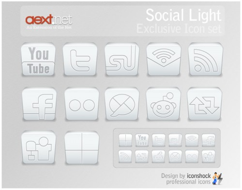 Social Light: Exclusive Icon Set for AEXT.NET MAGAZINE