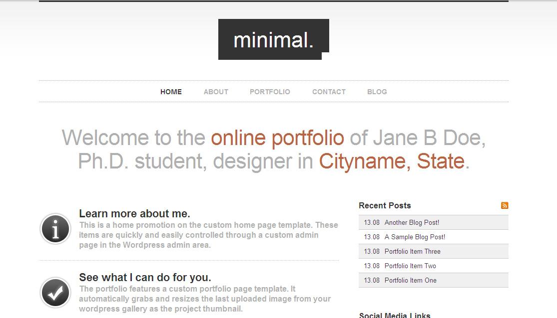 Best Minimalist WordPress Themes - Wordpress Themes #40