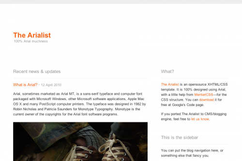 thearialist wordpress theme