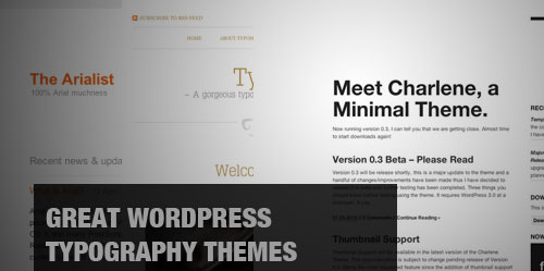 20 Awesome Wordpress Typography Themes for Writers