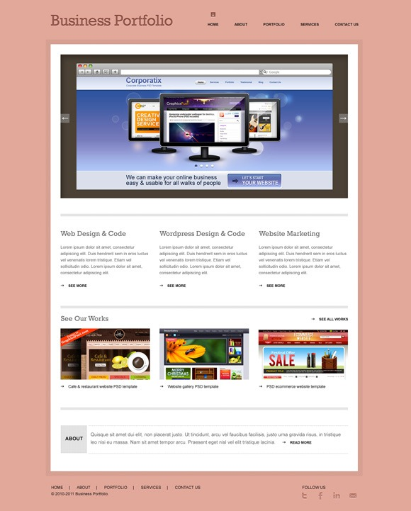40 very useful psd website templates for designers demo download accmission Gallery