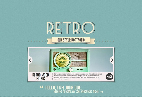 Retro - Single Page WordPress Theme 2012