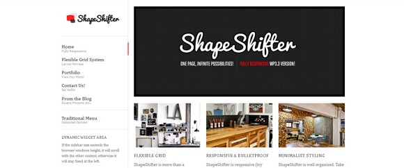 ShapeShifter - Single Page WordPress Theme 2012