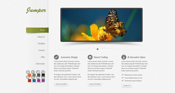 Jumper - Single Page WordPress Theme 2012
