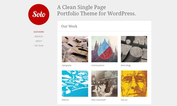 Solo - Single Page WordPress Theme 2012