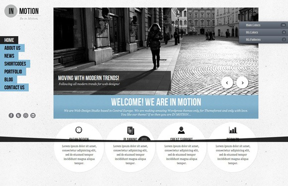 InMotion - Single Page WordPress Theme 2012