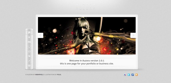 Auzora - Single Page WordPress Theme 2012