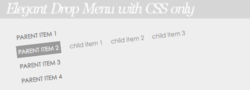 CSS Drop Menu