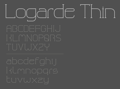 Logarde Thin – Free Typeface for Immediate Download