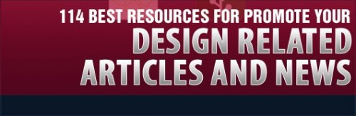 114 Best Resources for Promote your Design Related Articles and News