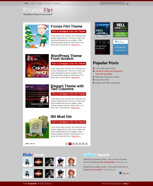FrozenFlirt WordPress Theme by aextnet