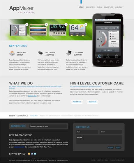 Graphichive Net: AppMaker WordPress Theme Review