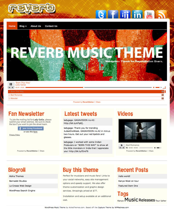 Reverb Premium WordPress Theme