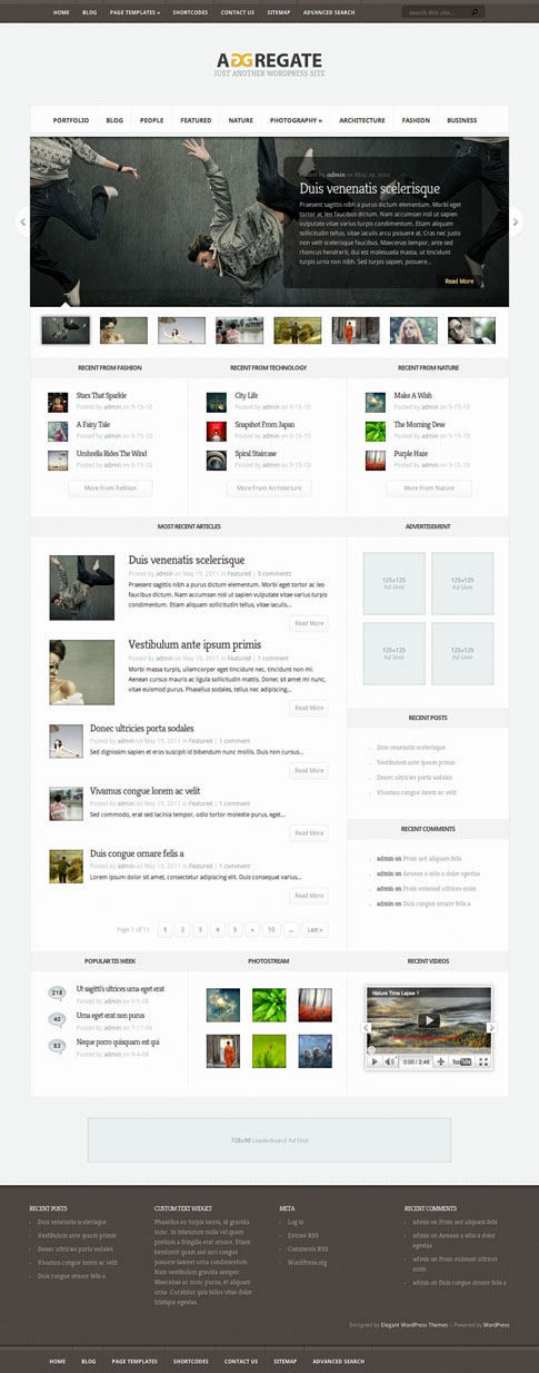 Aggregate Premium WordPress Theme