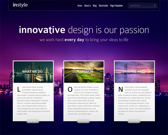 InStyle Premium WordPress Theme