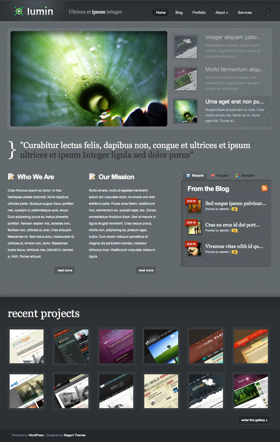 Lumin Premium WordPress Theme