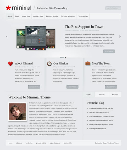 Minimal Premium WordPress Theme