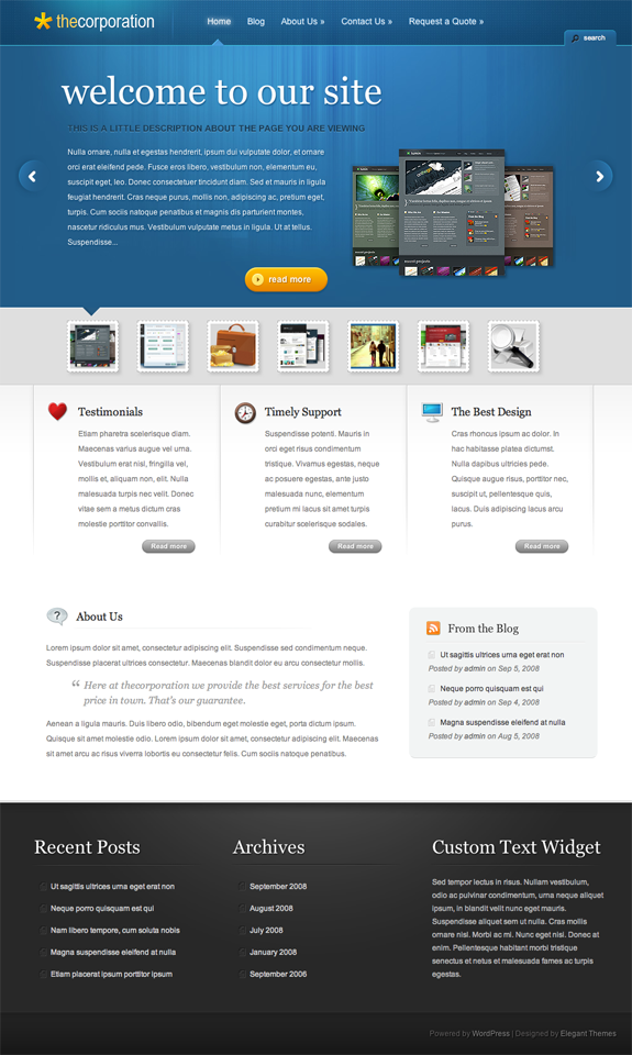 TheCorporation Premium WordPress Theme