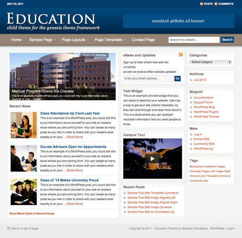 Education Premium WordPress Theme