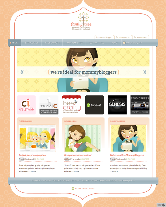 Family Tree Premium WordPress Theme
