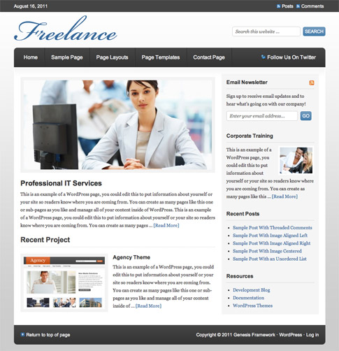 Freelance Premium WordPress Theme