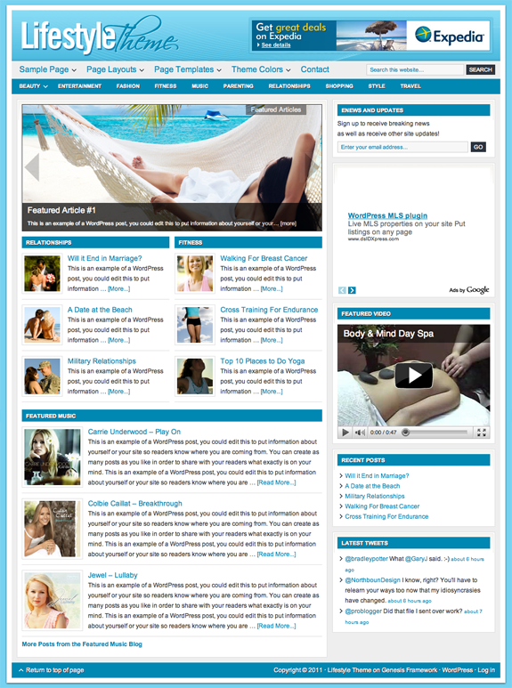 Lifestyle Premium WordPress Theme