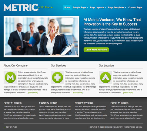 Metric Premium WordPress Theme