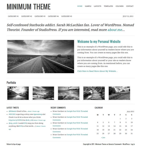Minimum Premium WordPress Theme