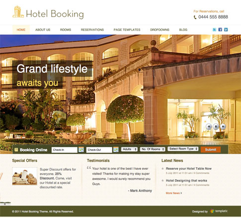 Hotel Booking Premium WordPress Theme