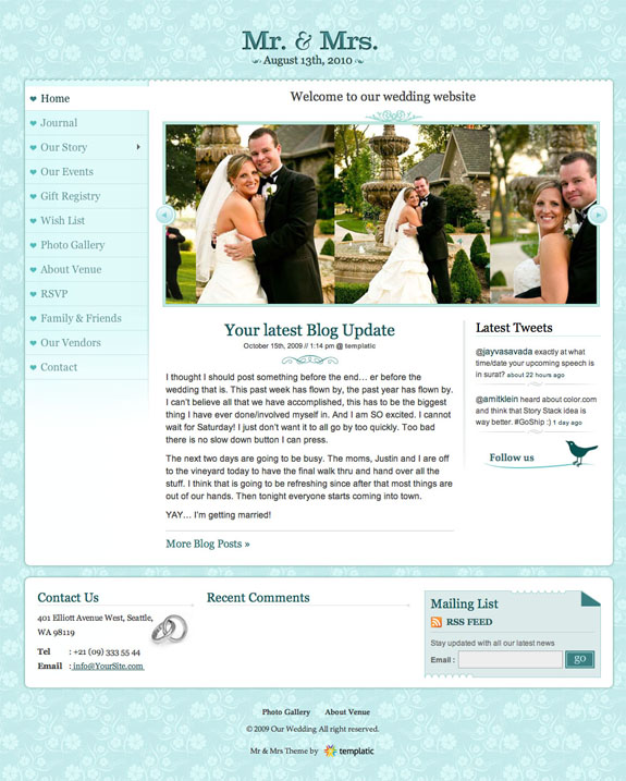 Mr. & Mrs. Premium WordPress Theme