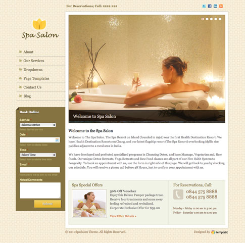 SpaSalon Premium WordPress Theme