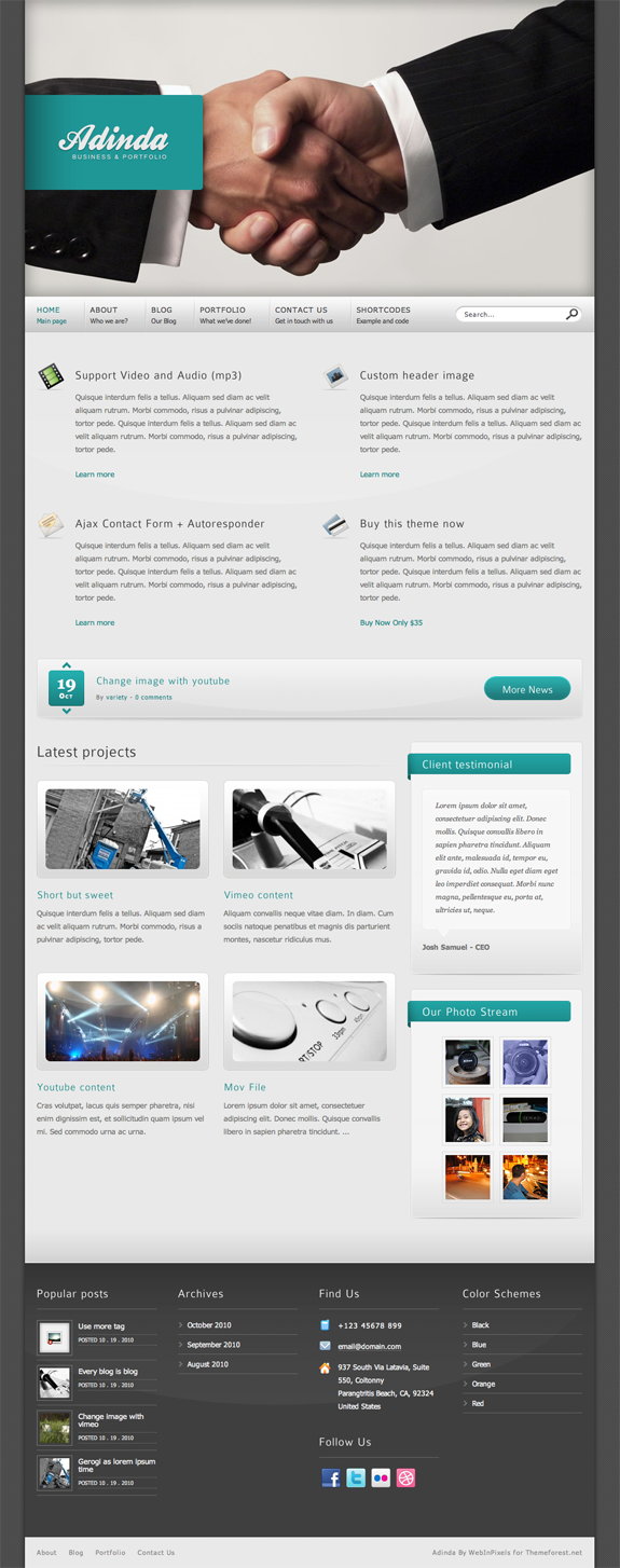 Adinda Premium WordPress Theme