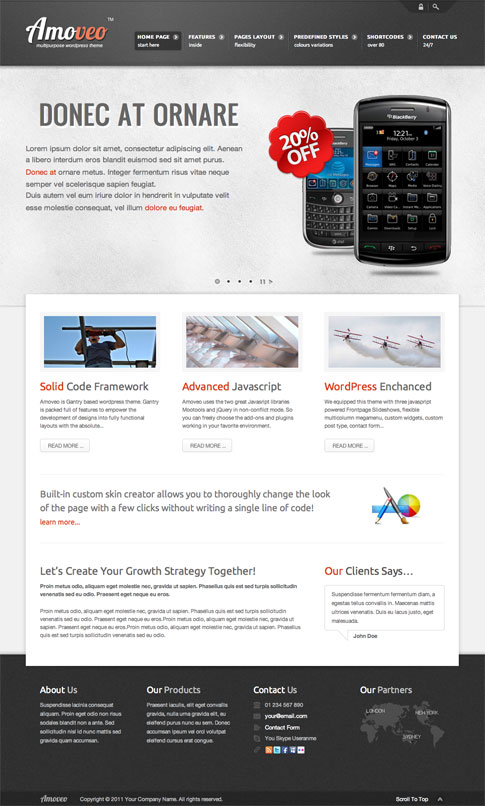 Amoveo Premium WordPress Theme