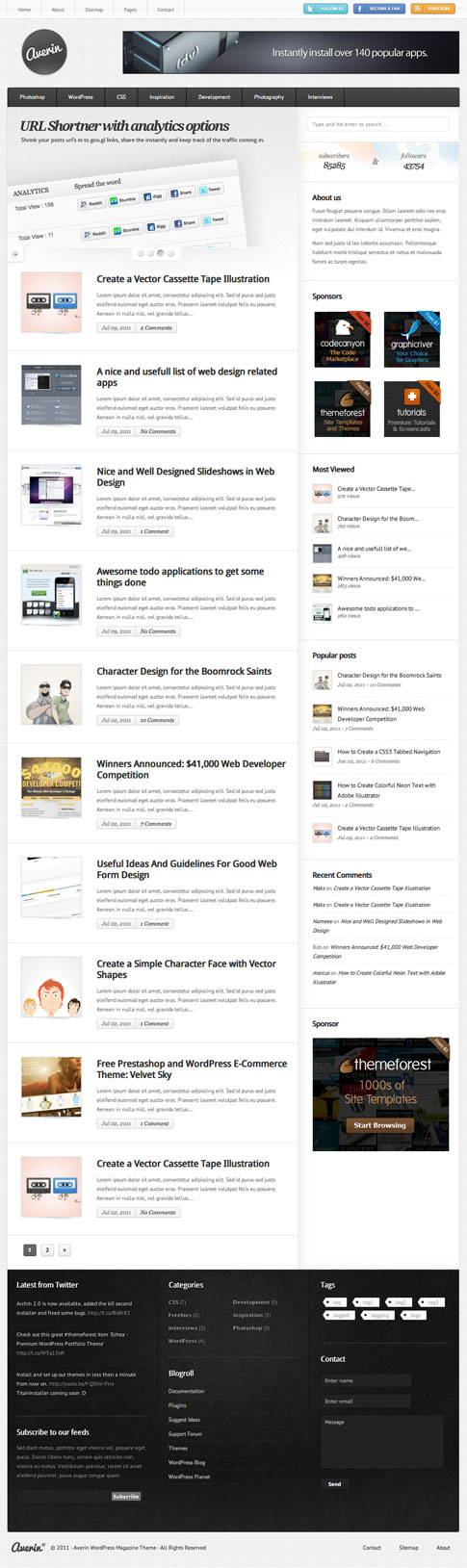 Averin Premium WordPress Theme