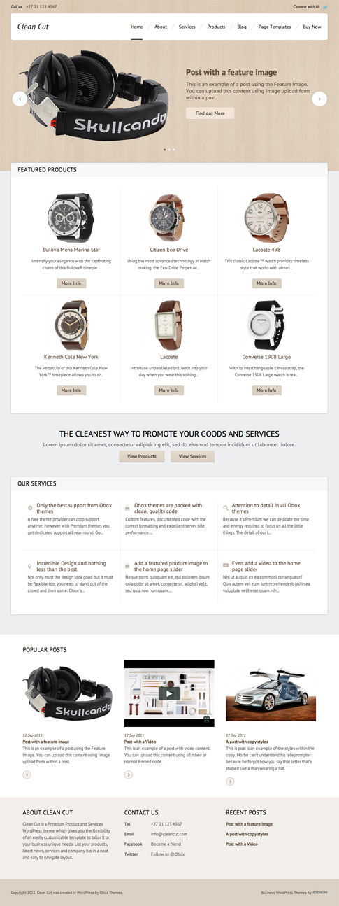 Clean Cut Premium WordPress Theme