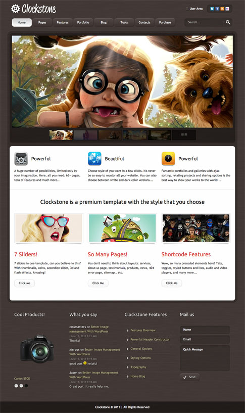 Clockstone Premium WordPress Theme