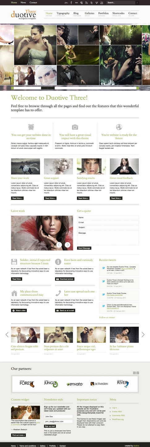 Duotive Three Premium WordPress Theme
