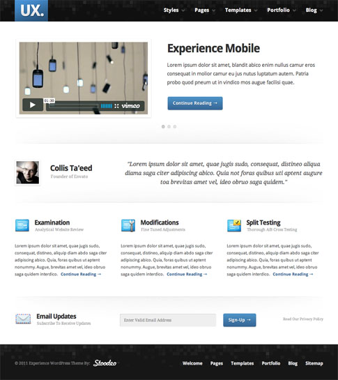 Experience Premium WordPress Theme