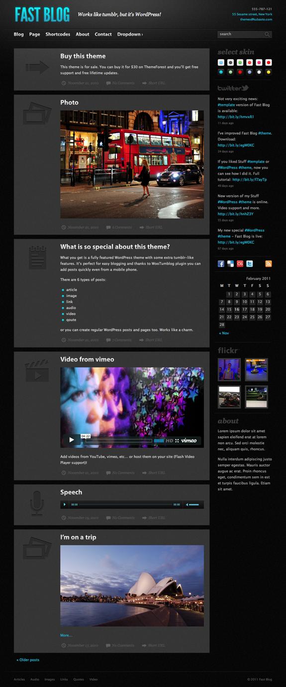 Fast WordPress Themes Fast Blog Premium WordPress Theme Review | ThemeForest.net
