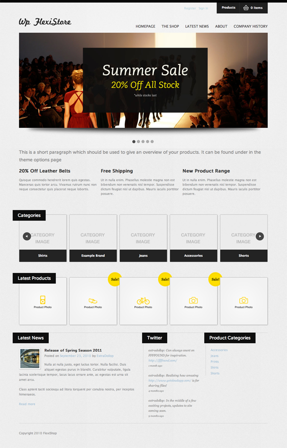 FlexiShop Premium WordPress Theme