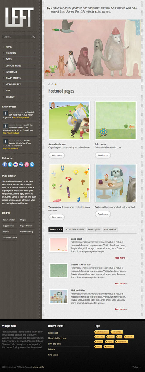 Left Premium WordPress Theme