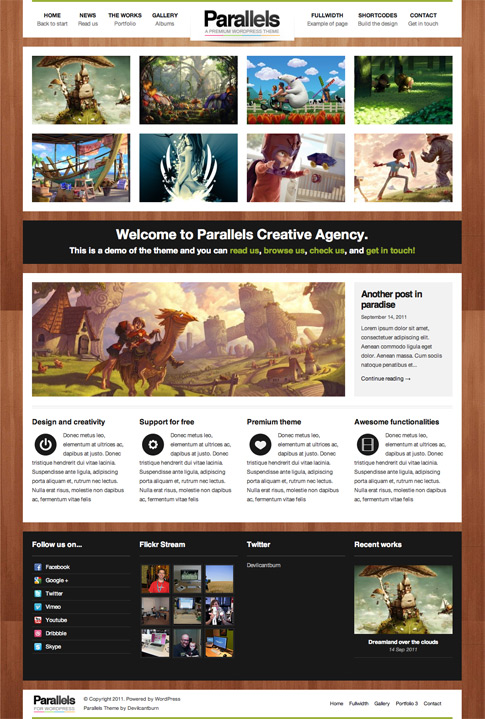 Parallels Premium WordPress Theme